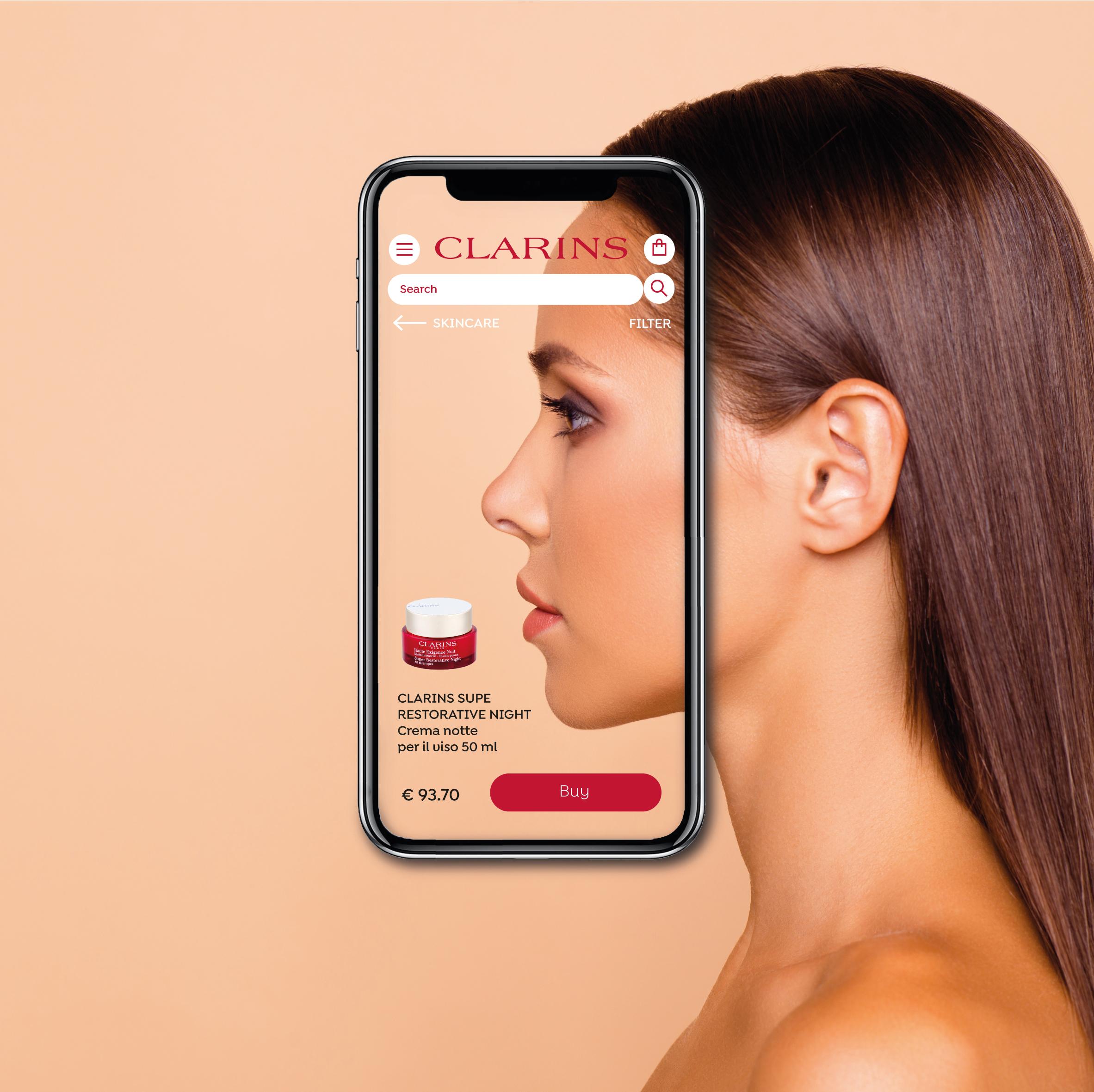 App Clarins viso