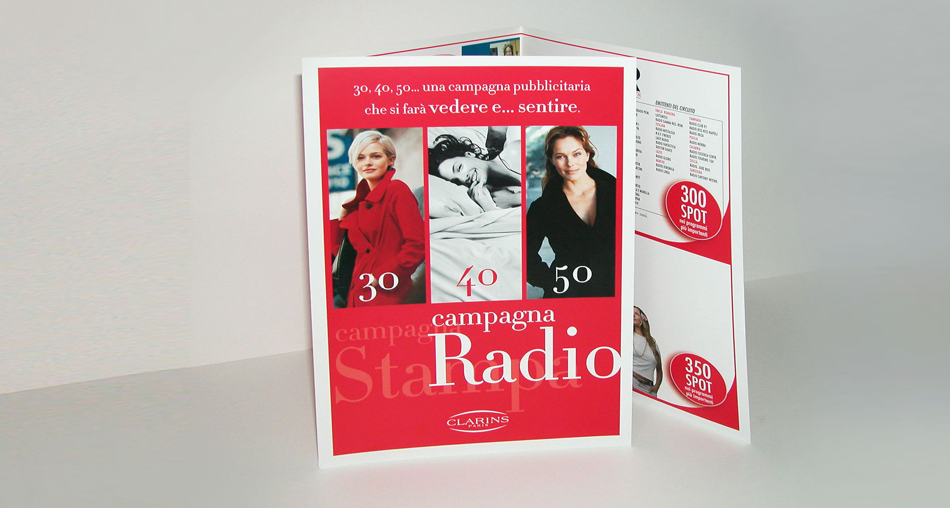 Leaflet pianificazione radio ADV Clarins